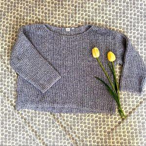 Gap knit boxy sweater crop